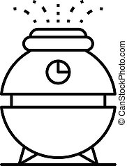 Water humidifier icon, outline style - Water humidifier...