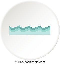Water icon circle