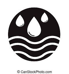 water icon Illustration design