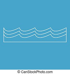 Water icon, outline style