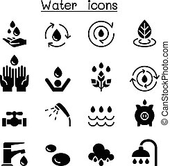 Water icon set vector illustration graphic design