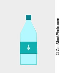Water, illustration, vector on white background.