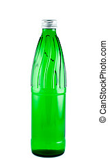 Water in a bottle isolated white. Clipping path.
