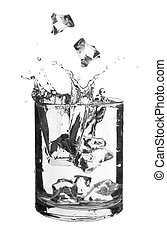 Water in a glass isolated