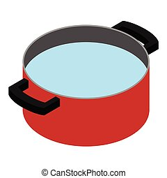 Water in cooking pot