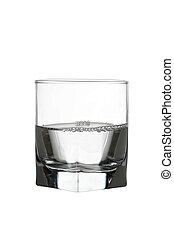 Water in glass with air bubles