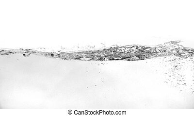 Water in slow motion on a white background