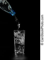 water is poured from a bottle