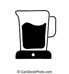 water jar silhouette style icon vector design