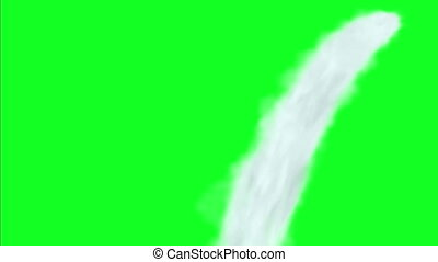 Water Jet Streams Motion Graphics On Green Screen