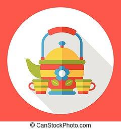 water kettle flat icon