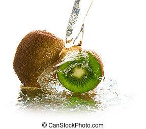 water, kiwi, gespetter