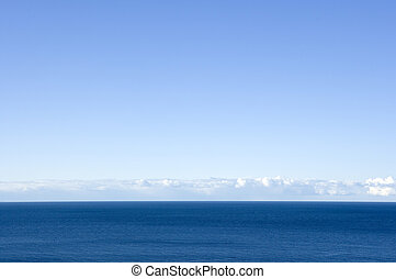 Horizon over Water on a sunny day