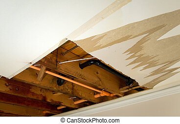 Water leaking - Home Interior Water leaking damage for...