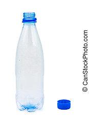 water, lege fles