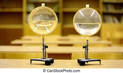 water lenses for educational experiments in physics, man...