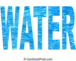 water, lettertype