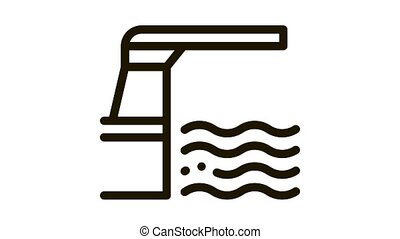 water level meter Icon Animation. black water level meter animated icon on white background