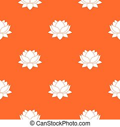 Water lily flower pattern seamless