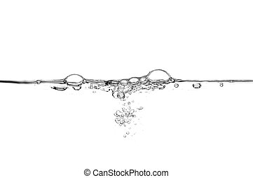 Fresh water with air bubbles.