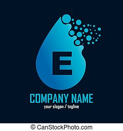 Water liquid drop logo