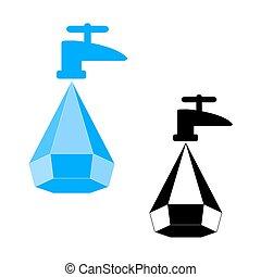 water, logo, besparing