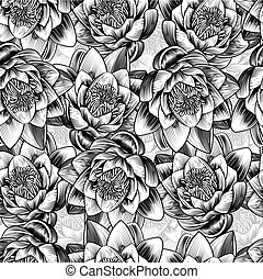 water, lotus bloem, lelie, achtergrond