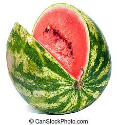water-melon, listrado, maduro