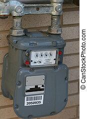 Water Meter - Commercial water meter on side of building