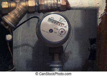 water meter - Sanitary equipment. water meter close up