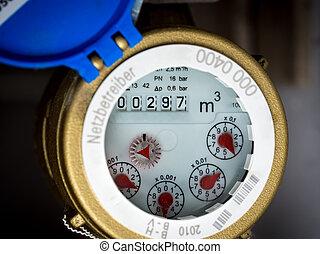 water meter - Water meter in close-up