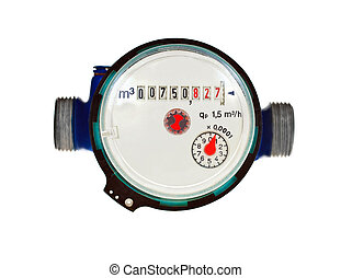 Water meter - water meter on white background