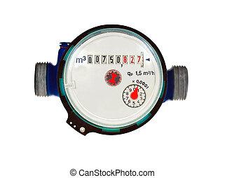 Water meter - water meter on white background