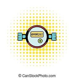 Water meters comics icon