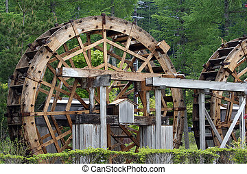 Wooden water-mill