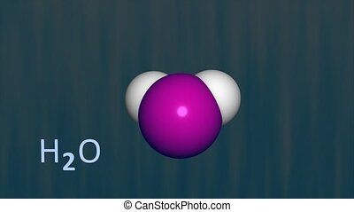 Water molecule.