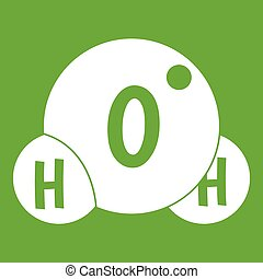 Water molecule icon green