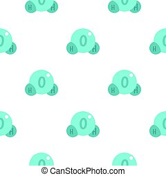 Water molecule pattern flat
