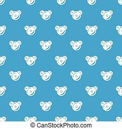 Water molecule pattern vector seamless blue