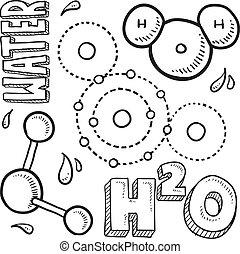 Water molecule sketch