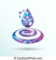 molecule water chemistry atom symbol icon