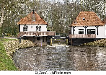 Interieur, molen, winterswijk, bataaf. Nederland,... stockfoto ...