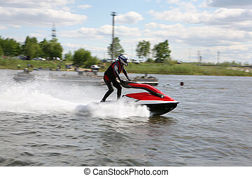 Water motors sport competition in Russia.