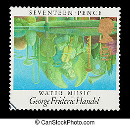 Water Music - Mail stamp printed in the UK celebrating Water...