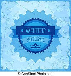 Water natural background in retro style.