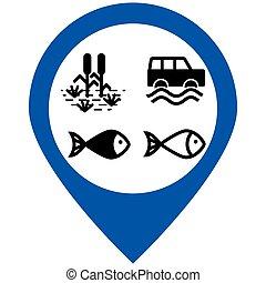 Water nature icons set. Vector illustration. - Illustration...