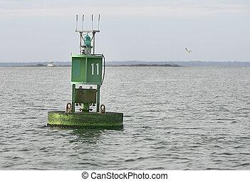 water, nautisch, zeebaken