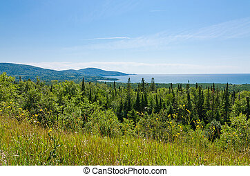Superior Lake - Water of Superior Lake, Ontario in the ...