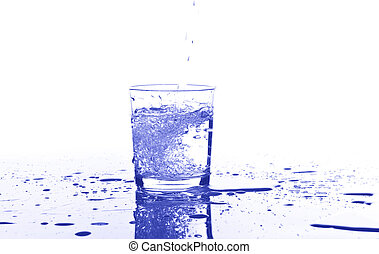 water on a glass