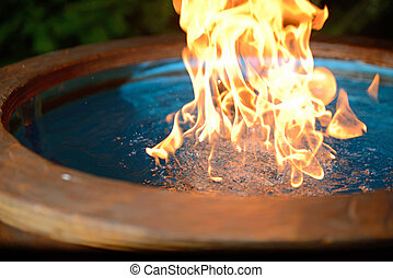 water on fire - natural gas bubbled through water burns...